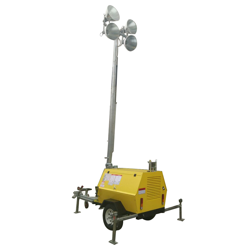 Moveable lighting tower diesel generator set-15